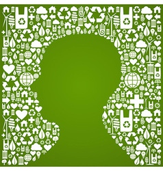 Human head eco background vector