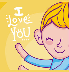 I love you card vector