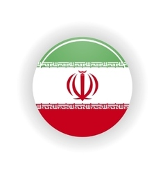 Iran icon circle vector image