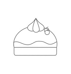isolated cake design vector image