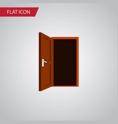 Isolated frame flat icon approach element vector