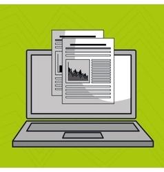 Laptop computer data icon vector