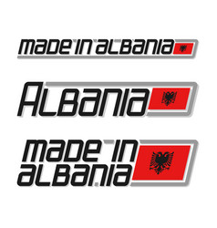 made in albania vector image
