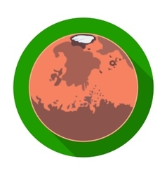 Mars icon in flat style isolated on white vector