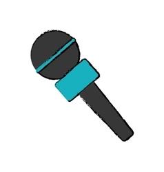 Microphone professional equipment vector
