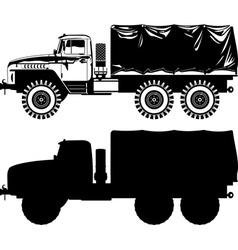 Military truck vector