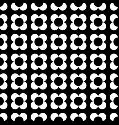Monochrome four petal flower geometric seamless ve vector
