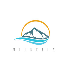 mountain water logo vector image