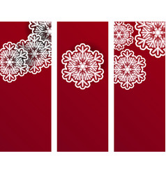 New year an christmas banners or flyers design vector