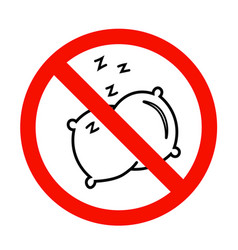 No sleep icon in flat style no pillow symbol vector