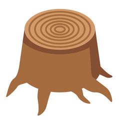 Oak stump icon isometric style vector