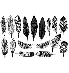 Peerless tribal design of decorative black vector