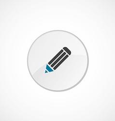 pencil icon 2 colored vector image