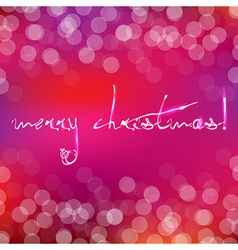 Pink Christmas Card With Bokeh vector image