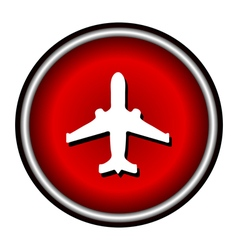 plane red circle modern web icon vector image