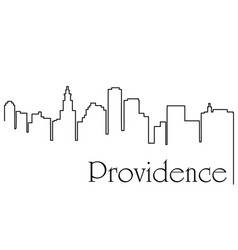 providence city one line drawing vector image