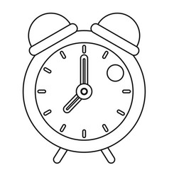 Retro alarm clock icon outline style vector