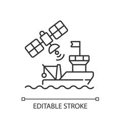 Satellite communication linear icon vector