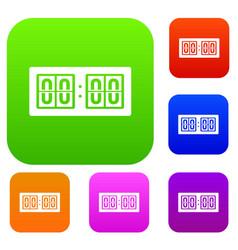 Scoreboard set collection vector