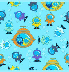 seamless kids pattern scuba bubble flat vector image