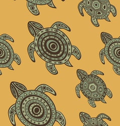 Seamless turtles background vector