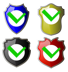 security check icon shield logotype protect sign vector image