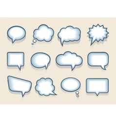 Set speech or thought bubbles vector