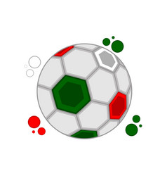 soccer ball with the colors of mexico vector image