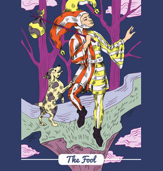 Tarot - the fool card vector