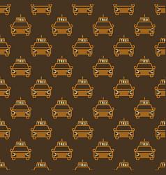 taxi car concept creative seamless pattern vector image