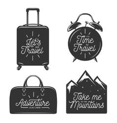 Travel typography set of design elements vector image