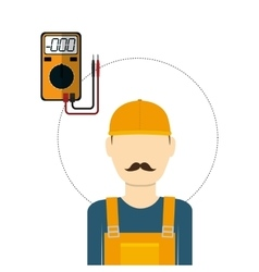 Under construction design supplies icon worker vector image