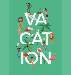 vacation themed banner template vector image