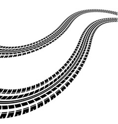Waves tire tracks vector