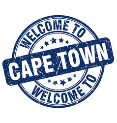 Welcome to cape town blue round vintage stamp vector