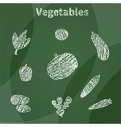 White vegetables vector