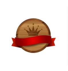 wooden royal label vector image