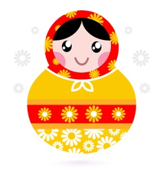 Wooden Russian doll vector