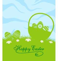 Fresh blue and green Easter background vector image vector image