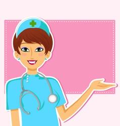friendly nurse vector image