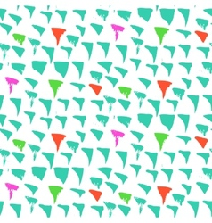 Grunge pattern with small drawn triangles vector image