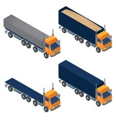 Heavy Transportation Isometric Cargo Truck vector image vector image