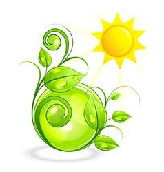 sun and green vegetation vector image