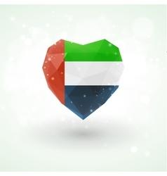 Flag of united arab emirates in shape diamond vector