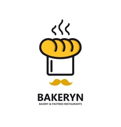 logo for bakeries and restaurants vector image