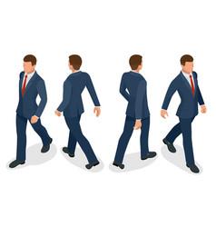 set of businessman man on white background vector image vector image