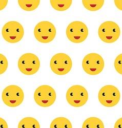 Smiling faces seamless pattern vector image vector image