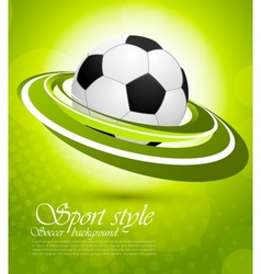 Sport background in green color vector image vector image