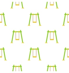 Swing icon in cartoon style isolated on white vector image