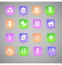 The set of environmental icons vector image